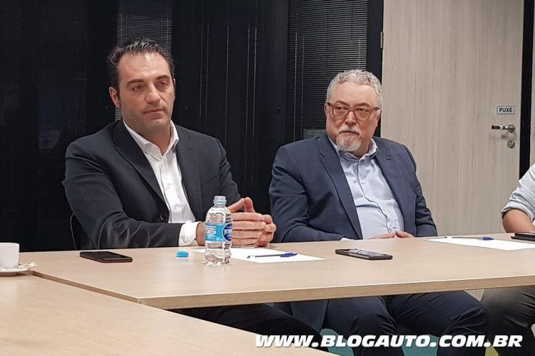 Antonio Filosa, presidente da FCA para América Latina e João Batista Ciaco, Diretor de Comunicação, Marketing e Sustentabilidade