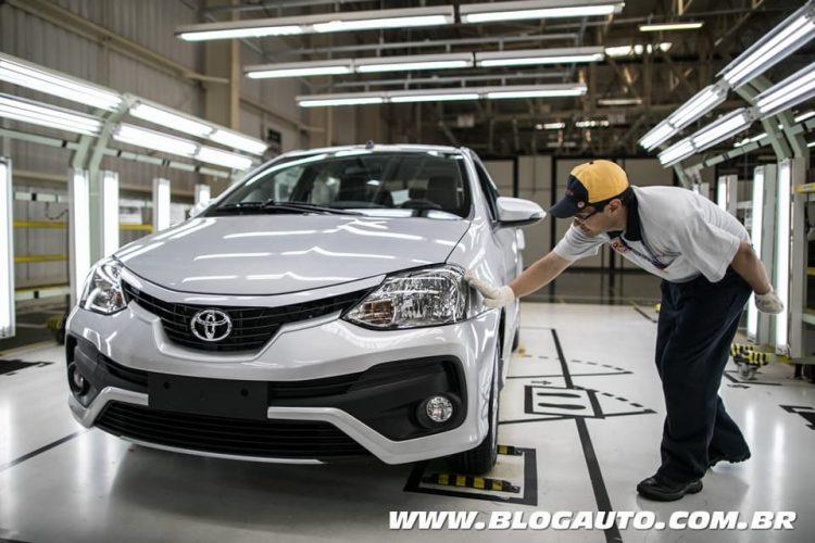 Linha de produção Toyota Etios em Sorocaba