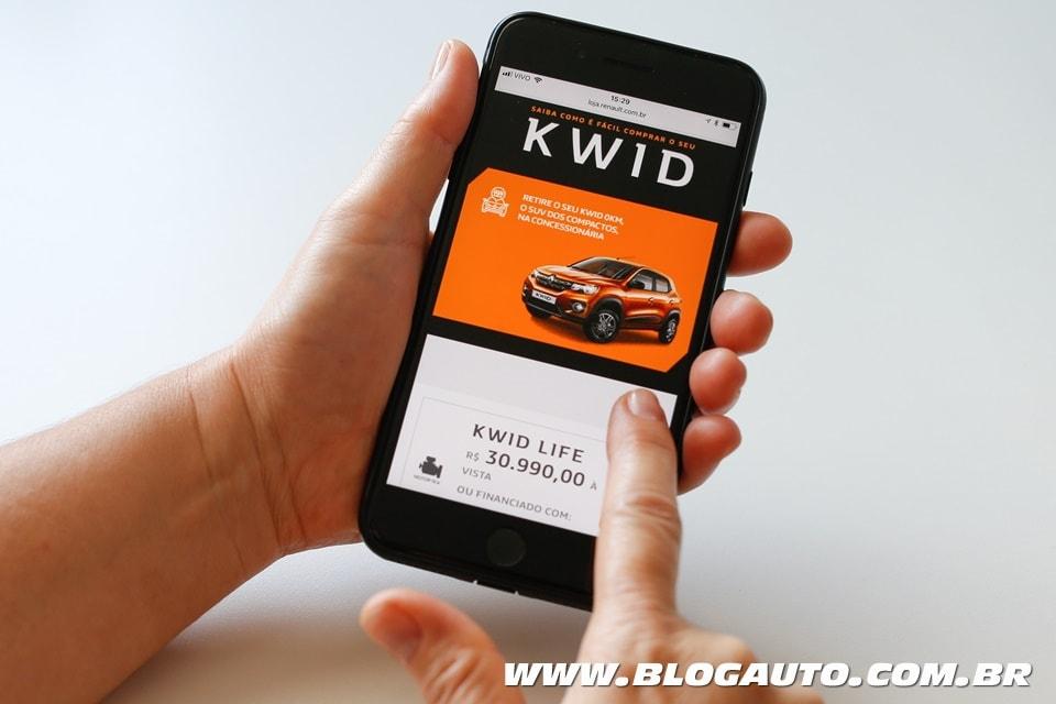 Renault Kwid compre pelo celular, tablet ou computador!!!