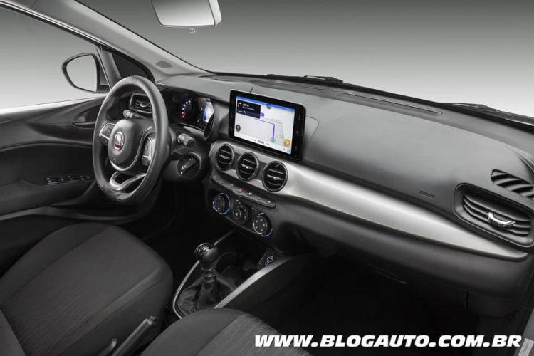 Central multimídia 9 polegadas Fiat Argo 2019 Drive 1.3
