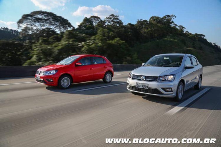 Volkswagen Gol 2019 e Volks Voyage com transmissão Automática