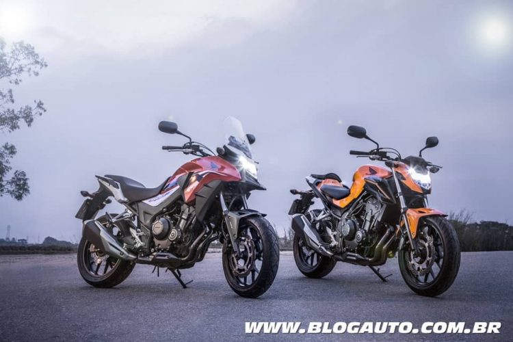 Linha Honda CB 500F e CB 500X 2019