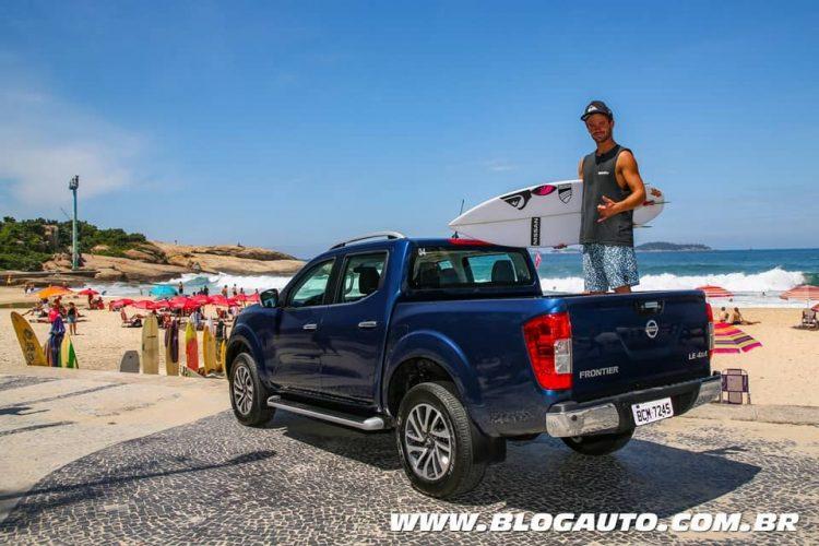 Nissan Frontier com Sntiago Muñiz no <a href=