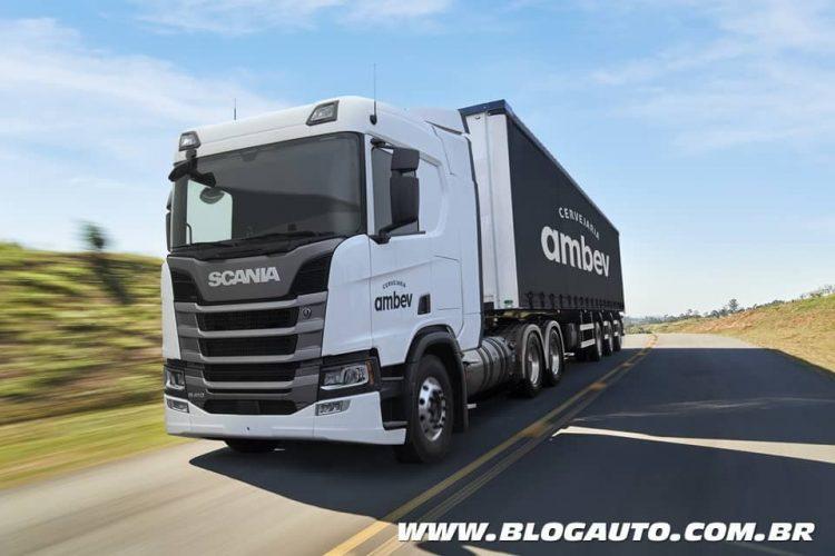 Scania R410 GNL Ambev