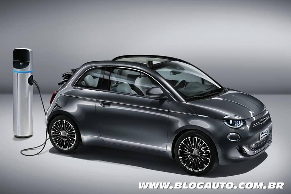 Fiat 500 E agora somente elétrico e chega ao Brasil este ano