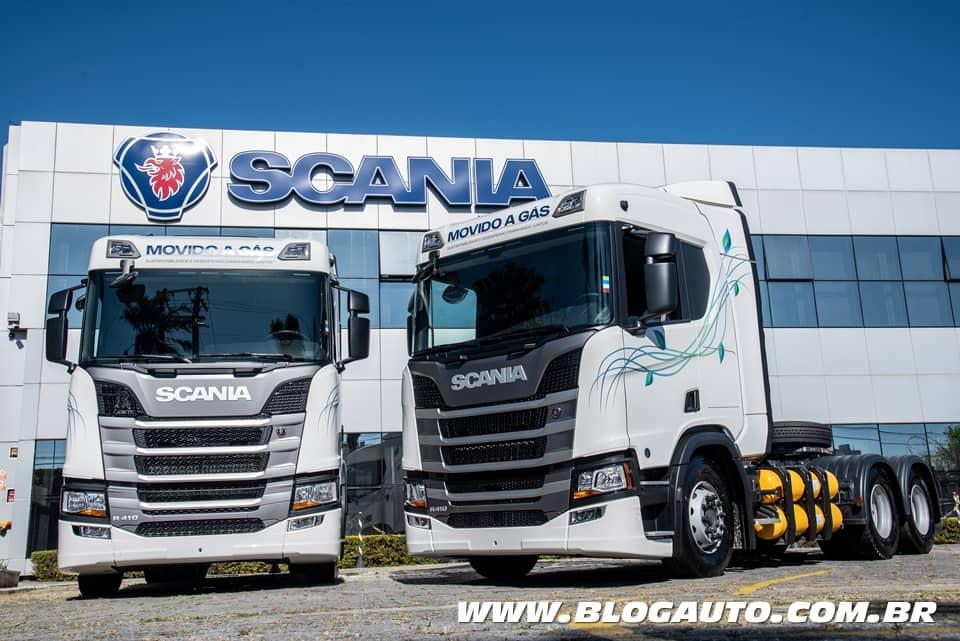 Scania R410 GNV a entrega dos primeiros do Brasil