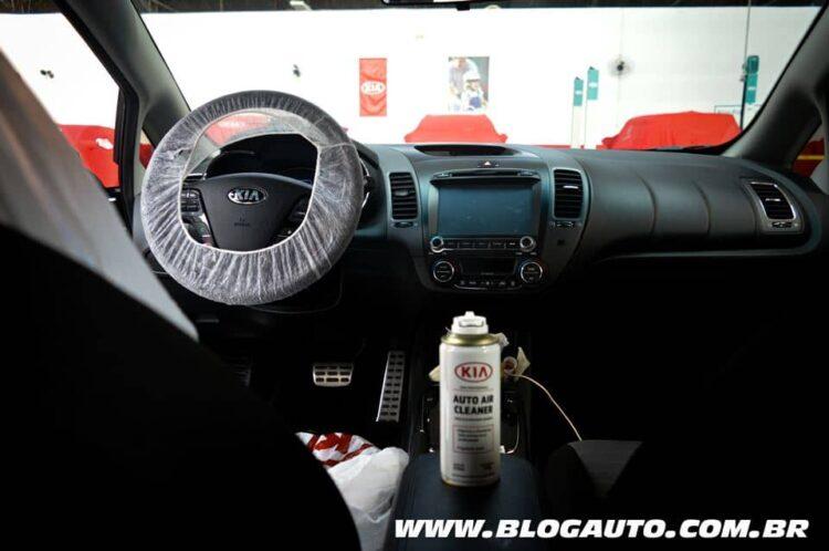 Serviço de higienização da Kia Motors