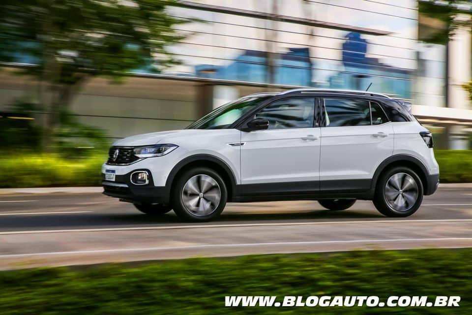 Volkswagen T‑Cross 2021 ganha mais equipamentos e perde versões