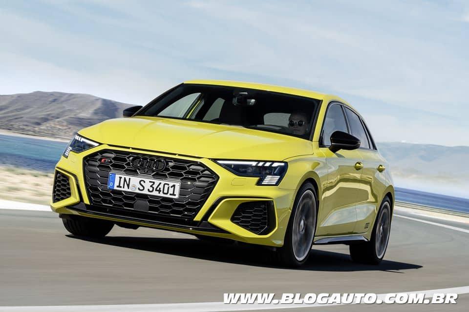 Audi S3 Sportback 2021 com 310 cv e 0 a 100 km/h em 4s8