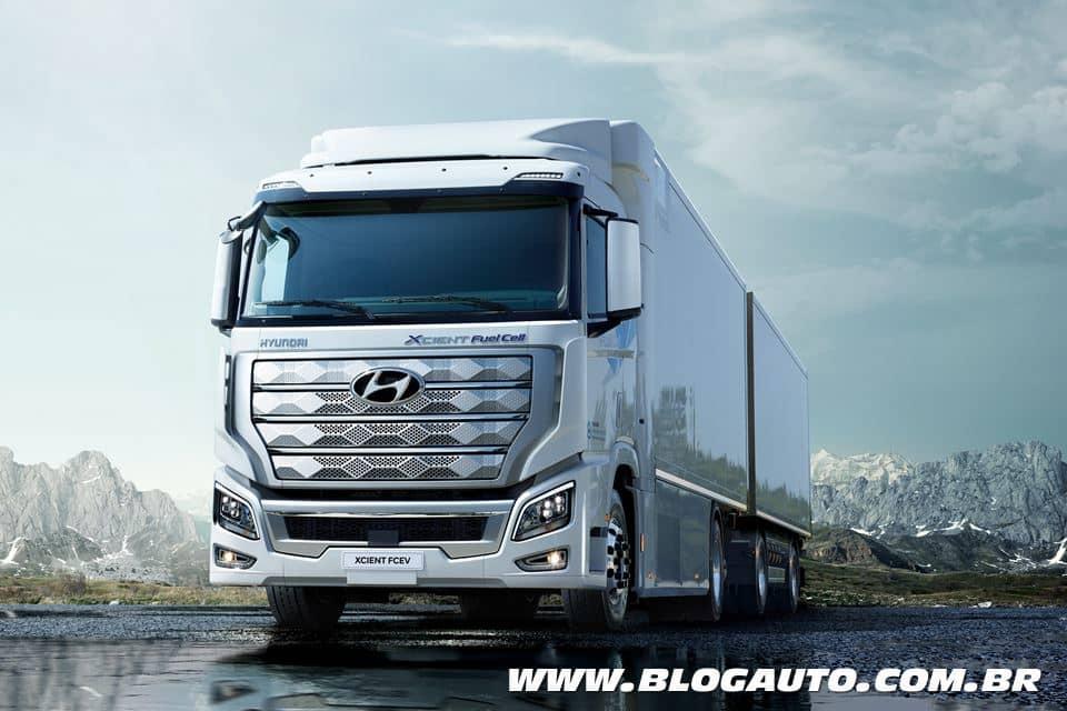 Hyundai Xcient o primeiro caminhão pesado de célula de combustível