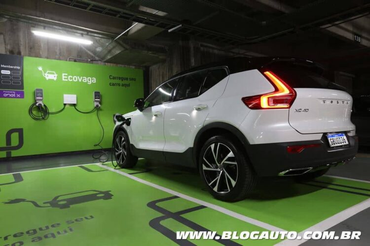 Volvo estacionamento para carros elétricos